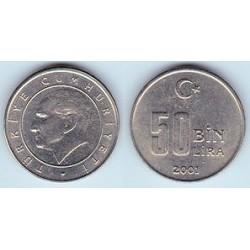 Turquía 2001 -2004 (50.000 Liras) S/C
