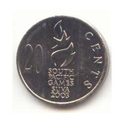 Fiji 2003 20 Cents. (Juegos Pacífico Sur) S/C