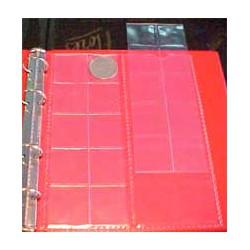 Hojas BBB 20 espacios para álbum monedas pequeño