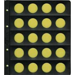 Hoja Pardo para monedas de 2 euros claraboya 20 espacios (773)