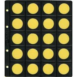 Hoja Pardo para monedas 20 espacios plana (752)