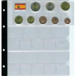 Hoja Pardo 3 colecc. EUROS con bandera transparente (767)