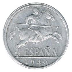 10 Cts Descentrada 1940 EBC