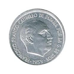 10 Cts Cuño Desalineado 1959 S/C-