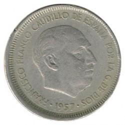 5 Ptas Descentrada 1957 * 63 MBC-