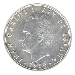5 Ptas sobre Cospel de Plata 1980 * 81 S/C-