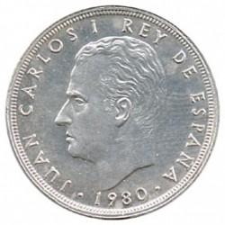 25 Ptas sobre Cospel de Plata 1980 * 81 S/C-