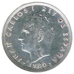 50 Ptas sobre 5 francos de Plata 1980 * 80 S/C-