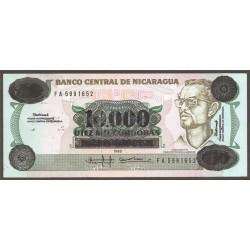 Nicaragua 10.000 Córdobas PK 158 (1.989) S/C