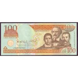 Rep. Dominicana 100 Pesos Oro PK 177a (2.006) S/C