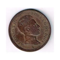 2 Ctms Alfonso XIII 1904 *04 EBC