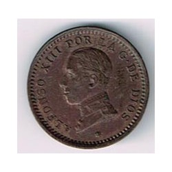 2 Ctms Alfonso XIII Sin fecha en la estrella 1912 * 12 S/C-