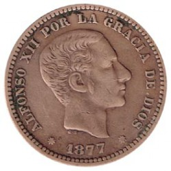 5 Ctms Alfonso XII 1877 EBC