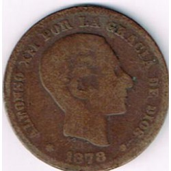 5 Ctms Alfonso XII 1878 MBC