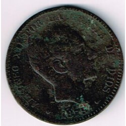 10 Ctms Alfonso XII 1877 BC-