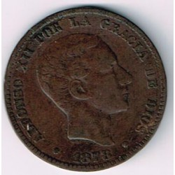 10 Ctms Alfonso XII 1878 MBC-