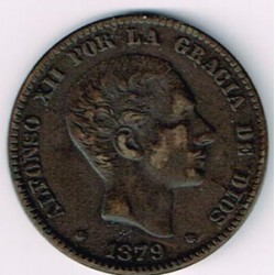 10 Ctms Alfonso XII 1879 EBC+