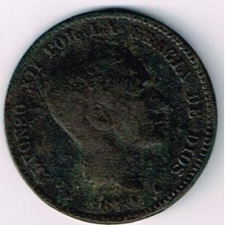10 Ctms Alfonso XII 1879 MBC