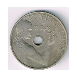 25 Ctms 2ª República 1934 MBC