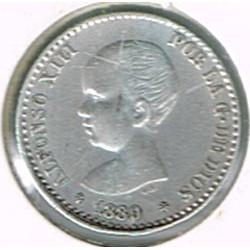 50 Ctms Alfonso XIII 1889 * 89 EBC