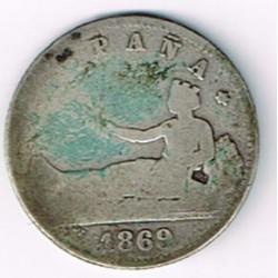 1 Pta Gobierno Provisional 1869 * 69 MC