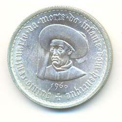 Portugal 10 escudos de plata 1960 Infante Henrique S/C