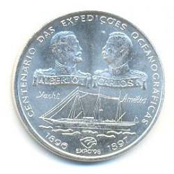Portugal 1.000 Escudos de Plata 1997 Cent. Expediciones Oceanográficas S/C