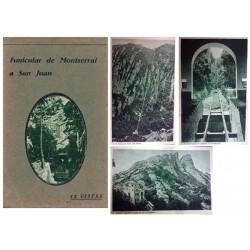 "Carnet Postal ""Funicular de Montserrat a San Juan"" EBC"