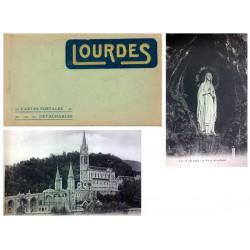 """Carnet Postal """"Lourdes"""" EBC"""