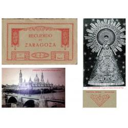 """Fototipia Thomas Carnet Postal """"Recuerdo de Zaragoza"""" 1ª Serie S/C-"""