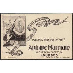 """Postal b/n publicitaria """"Antoine Marroum"""" S/C"""