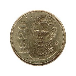 Méjico 1990 20 Pesos S/C-