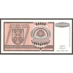 Bosnia-Herzegovina 10.000.000.000 Dinares PK 148 (1.993) S/C