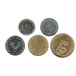 Timor Este 2003 - 2006 5 valores (1,5,10,25 y 50 centavos) S/C