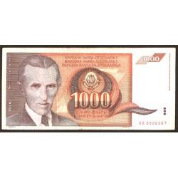 Yugoslavia 1.000 Dinares PK 107 (26-11-1.990) S/C