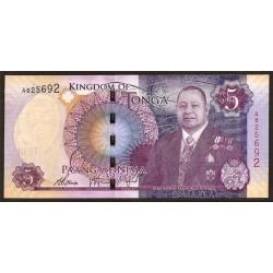 Tonga 5 Pa´anga PK Nuevo (2.015) S/C