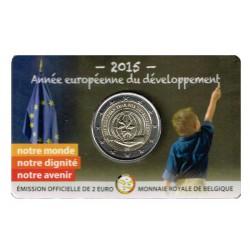 Bélgica 2015 2 Euros. Año Europeo del Desarrollo S/C