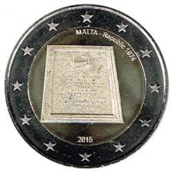 Malta 2015 2 Euros.1974 República S/C