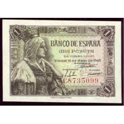 1 Peseta 1945 Isabel La Católica S/C Serie G