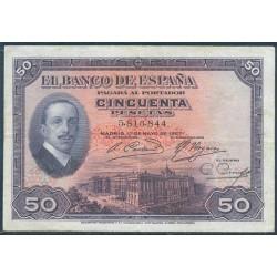 50 Ptas 1927 Alfonso XIII MBC+ Sin Resello República