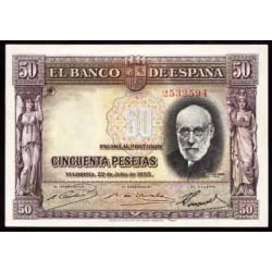 50 Ptas 1935 Ramón y Cajal S/C-