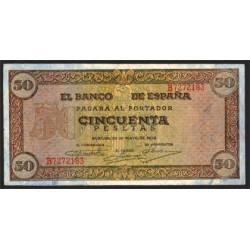 50 Ptas 1938 Castillo de Olite EBC-