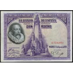 100 Pesetas 1928 Cervantes MBC+ Sin Serie