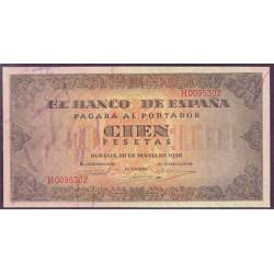 100 Pesetas 1938 Burgos. Casa del Cordón EBC Serie n. H0095302