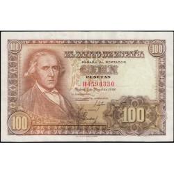 100 Pesetas 1948 Francisco Bayeu EBC