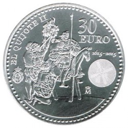 España 2015 30 Euros Plata El Quijote II S/C