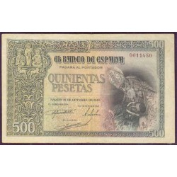 500 Pesetas 1940 Entierro Conde de Orgaz MBC+