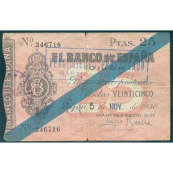 25 Ptas Gijón 1936. BC+