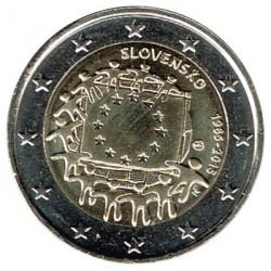 Eslovaquia 2015 2 Euros. 30º Aniv. de La Bandera Europea S/C