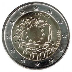 Letonia 2015 2 Euros. 30º Aniv. de La Bandera Europea S/C